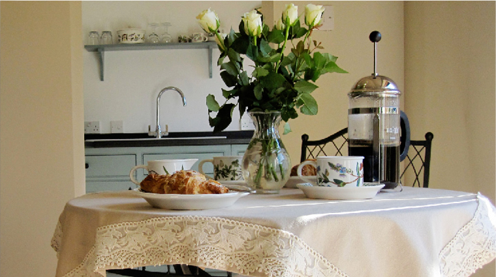 Photo of breakfast table